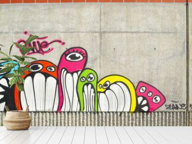 Graffiti sur béton