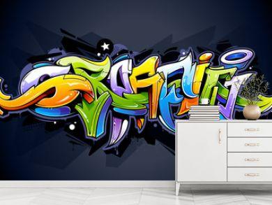 Bright graffiti lettering
