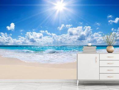 tropical beach and sea - landscape