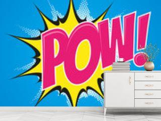 pow pop-art explosion retro poster