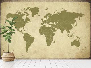 Earth Map Retro grunge