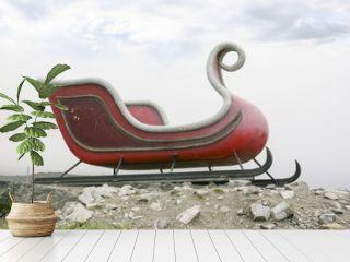 Santa's sleigh in Ilulissat, Greenland.