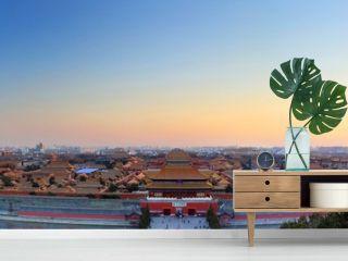 Beijing Forbidden City sunset