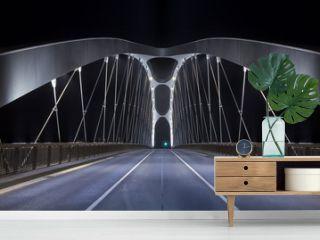 Modern Bridge at night