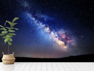 Milky Way. Beautiful summer night sky with stars in Crimea