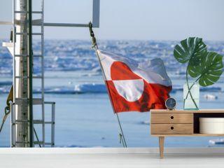 Flag of Greenland - Ships Mast