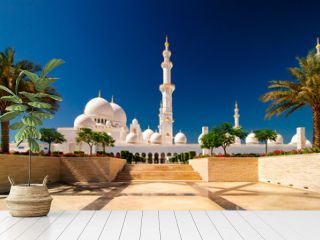 Sunset view at Mosque, Abu Dhabi, United Arab Emirates