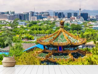 City view of Beijing from Jingshan park