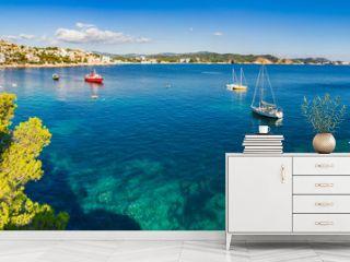 Spain Coastline Panorama Mediterranean Sea Majorca Cala Fornells