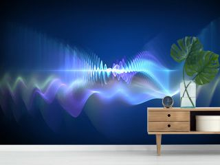 Sound waves - abstract design element