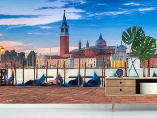 Venice Panorama. Panoramic image of Venice, Italy during sunrise.