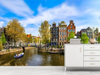 Amsterdam, Holland: Spring sunny day in the city