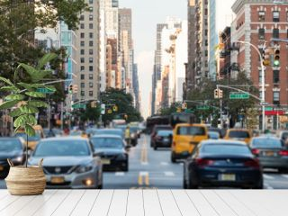 Traffic along 3rd Avenue in New York City