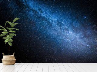 Wonderful milky way with million stars at night