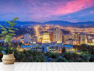 Salt Lake City skyline Utah at night