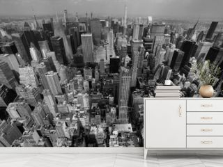 New York City skyline Black and White photo