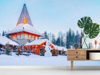 Snowman at Santa Office in Santa Claus Village in Rovaniemi, Lapland, Finland