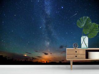Stars Sky and milky way at night