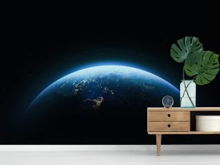 Planet Earth in outer space. Civilization. Elements of this image furnished by NASA