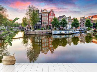 Amsterdam at sunset, Netherlands