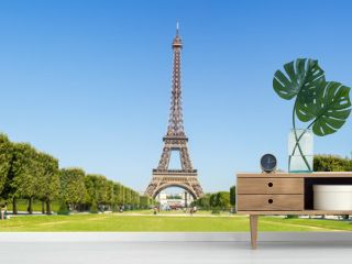 Paris Eiffel tower panorama France panoramic view travel