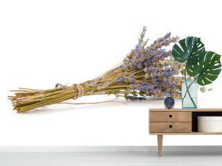 bouquet de lavande séchée sur fond blanc - Fleur Lavandula