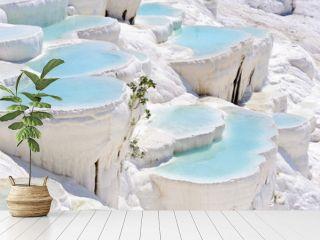 Travertine pools at ancient Hierapolis, now Pamukkale, Turkey