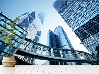 Modern office buildings in  Hong Kong.