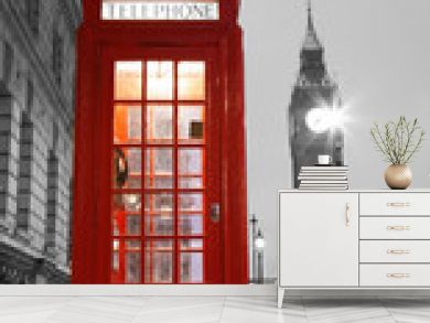 London Telephone Booth and Big Ben