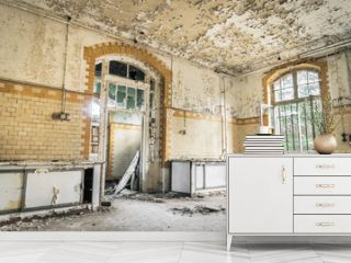 Abandoned Hospital in Beelitz Heilstaetten near Berlin in German