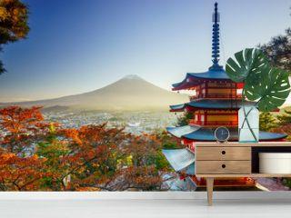 Mt. Fuji with Chureito Pagoda, Fujiyoshida, Japan