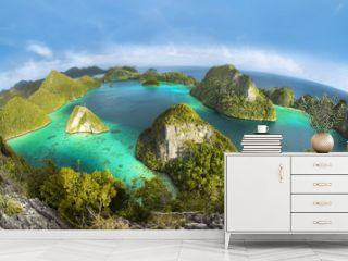 Wayag Islands of Raja Ampat (Fish eye Version)