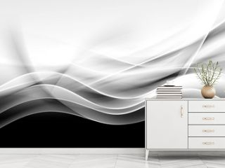 creative abstraction black and white wave background