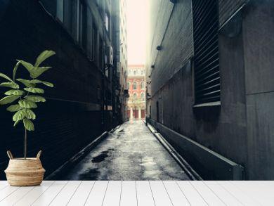 Dark alley in Toronto, Canada