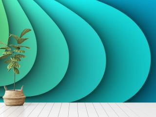 Simple abstract turquoise waves background