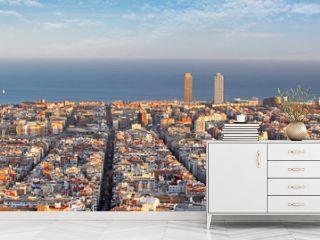 Panoramic view of Barcelona, Spain
