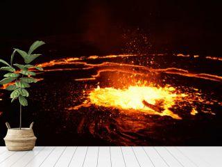 Eruption of Erta Ale volcano
