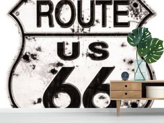Old rusted Route 66 Sign