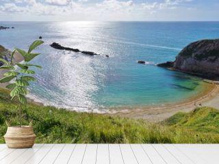 Lulworth Cove on the English Jurassic Coast in Dorset, England