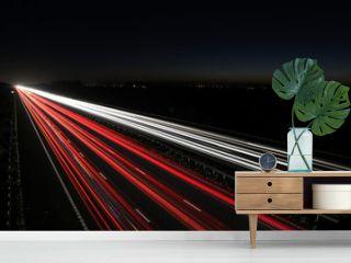 Moving Traffic light trails at night