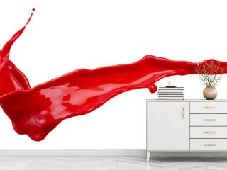red paint splash isolated on a white background