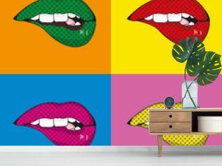 Pop art mouth design