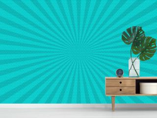 Pop art vintage radial line background. Halftone comic book backdrop old poster. Colored cartoon vector illustration. Retro design template. Graphic texture grunge poster.