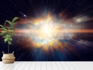 Space and Galaxy light speed travel. Elements of this image furnished by NASA.