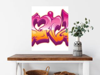 Love in graffiti style isolated on white