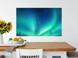 Aurora borealis, Northern lights with starry in the night sky