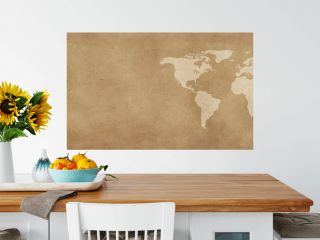 World map on vintage background banner