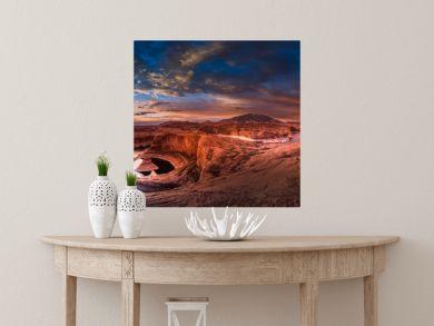 Reflection Canyon and Navajo Mountain at Sunrise Panorama