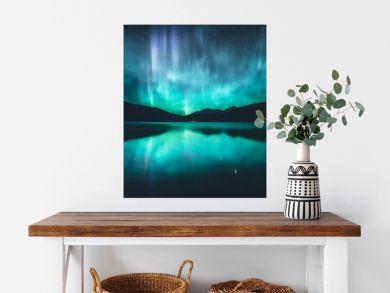 Northern lights in the Canadian Rockies, Jasper