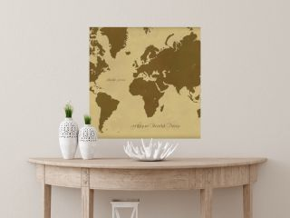 アンティークでレトロな世界地図 古地図